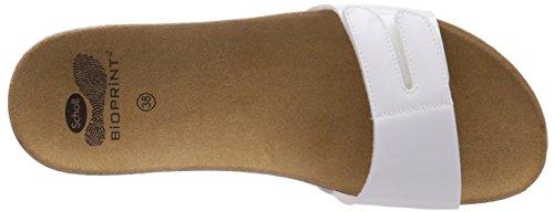 Scholl LUWIN white - sandalias abiertas de material sintético mujer blanco - blanco (blanco)