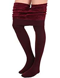 Fleece Lined Leggings Women - Winter Thick Tights for Women, High Waisted