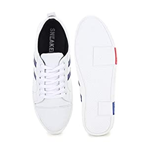 Digitrendzz Men's Sneakers/Casual Shoes/Shoes for Men's Casuals Sneakers/Unique Shoes (9, White Blue