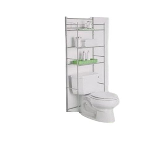 GT Etagere Over Toilet Above Storage Cabinet Bathroom Practical Indoor Home Storage Bathroom Organize Furniture & Ebook by Easy2Find. by GT