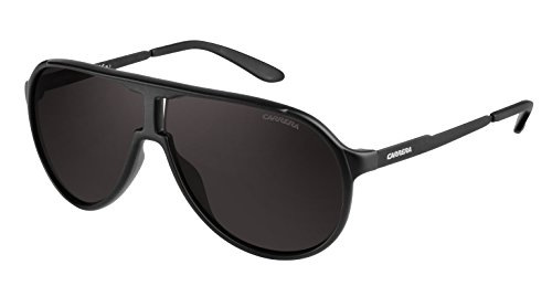 Carrera New Champion Aviator Sunglasses, Matte Black & Brown Gray, 62 - Sunglass Frames Carrera