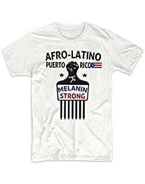 Afro Latino T Shirt Puerto Rico Boricua Afro Pick Taino African Latin Roots VIII