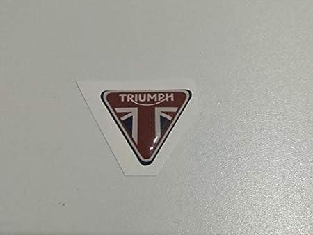 Adesivo in vinile compatibile con Triumph Motorcycles stampa digitale laminata contro raggi Uvi e graffi foglio A 4 20 adesivi