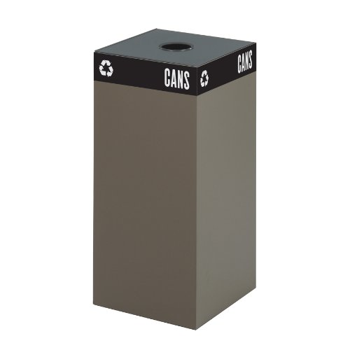 - Safco Products 2982BR Public Square Recycling Trash Can Base, 31-Gallon (Top sold separately), Brown