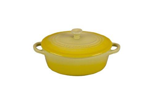 Le Creuset Stoneware 12-Ounce Mini Oval Cocotte, Soleil