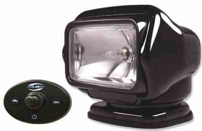 Golight Stryker Spotlight w/ Wired Joystick Remote - 100lb. Grip Magnetic Base - 16' Cigarette Plug (Cigarette Electronic Base)