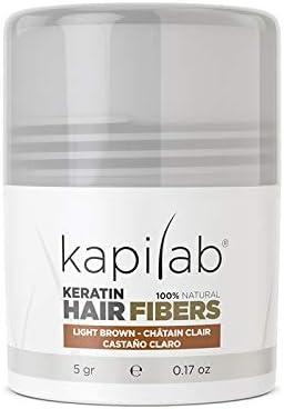 Kapilab Fibras Capilares (5 gramos, Castaño Claro): Amazon.es: Belleza