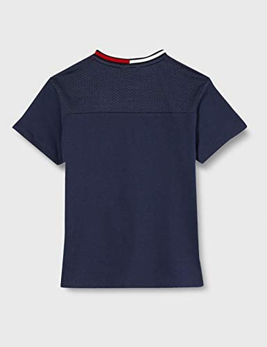 Tommy Hilfiger Mesh Insert Boxy Fit tee S//S Camiseta para Ni/ños