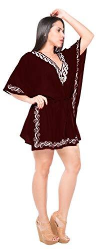beachwear di ricamato bagno costume LEELA LA n650 del vestito leggero da bagno Viola occultamento costumi camicia da bikini pSnWFWP