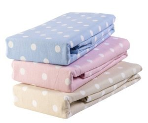 Luxury Thermal Flannelette Bedding 100% Natural Brushed Cotton Polka Dot Fitted  Bed Sheets Double Pink