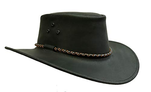 - Australian Echuca Leather Hat from Down Under | Kakadu Traders Traveller Black