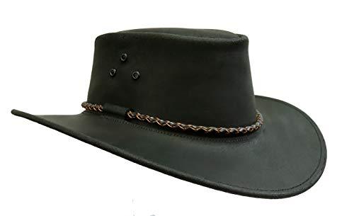 Kakadu Suede Hat - Australian Echuca Leather Hat from Down Under | Kakadu Traders Traveller Black