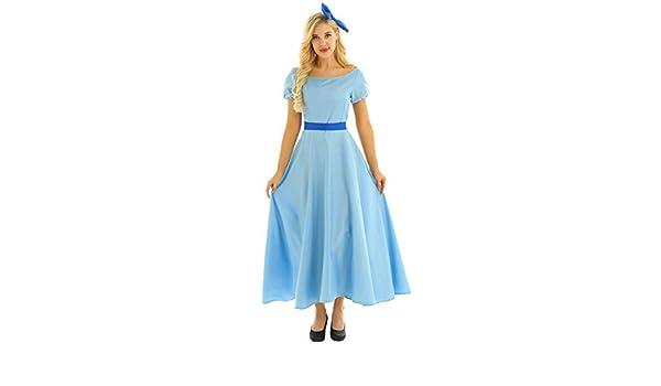 Chictry - Disfraz de princesa Wendy para mujer y niña, vestido ...