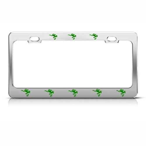 Frog Frogs Metal License Plate Frame Tag (Frog License Plate Frame)