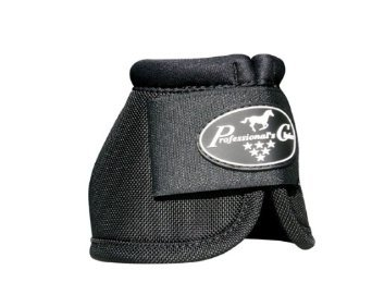 Professionals Choice Equine Ballistic Hoof Overreach Bell Boot, Pair (Small, (Black Small Bell)