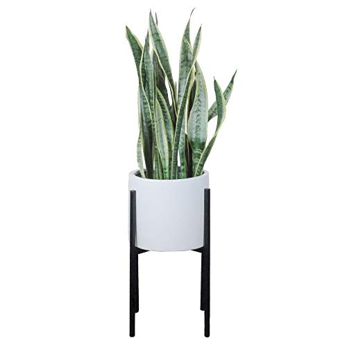 Indoor Plant Stand | Mid Century Modern (Pot NOT Included)| Metal Plant Stands Indoor | Planter Pots Holder | Planters Display Holders | Black (Large/Tall)