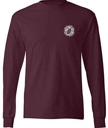 Maroon Santa - Koloa Surf Hawaiian Turtle Logo Long Sleeve T-Shirt-Athletic.Maroon-XL