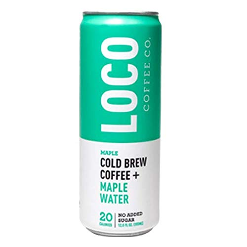 - Loco Coffee | Cold Brew Coffee + Maple Water (12 12 fl. oz. cans) | Gluten & Dairy Free | Clean Energy & Low Acidity | No Added Sugar | Caffeine+Electrolytes | No Refrigeration Required