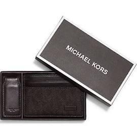 Michael Kors Men's Logo Card Case Wallet Money Clip Gift Set Brown by Michael Kors (Image #3)
