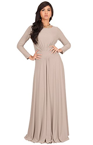 0c9f43f44fc15 KOH KOH Womens Long Full Sleeve Sleeves Flowy Empire Waist Fall Winter  Modest Formal Floor Length Abaya Muslim Gown Gowns Maxi Dress Dresses, ...