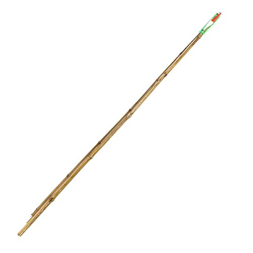- BambooMN 6 Ft 2 Piece Natural Bamboo Vintage Cane Fishing Pole with Bobber, Hook, Line and Sinker, 1 Set