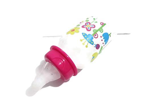 Amazon.com: Reborn muñeca Botella 5oz Fake Leche Rosa Tapa ...