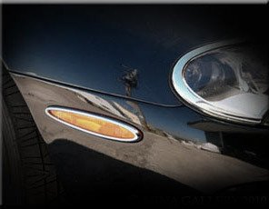 Mina Gallery Parking Light Chrome Finisher Set for Jaguar XK8 XKR 1997-2006 models 2 pcs kit by Mina Gallery
