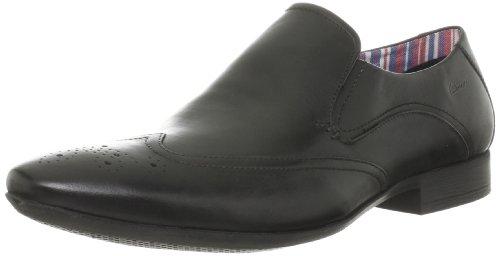 Clarks Glint City - Mocasines de cuero para hombre negro negro One Size Fits All negro - negro