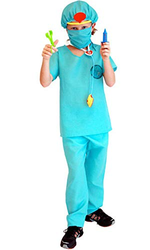 stylesilove Kid Boys Halloween Costume Party Cosplay Outfit Themed Party Birthdays Party (Surgeon Doctor, M/4-6 Years)