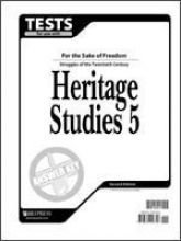 Heritage Studies 5 Tests - Answer key for Tests for Use with BJU Heritage Studies 5
