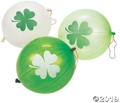 Toys Fun Express ST Patricks Day Punch Balloon 12 Pieces