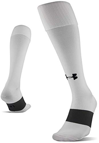 Under Armour Soccer Over-The-Calf Socks, 1-Pair, White, Shoe Size: Mens 8-12, Womens 9-12