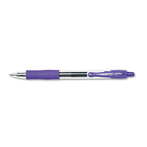 PILOT Corp of America 31006 G2 Premium Retractable Gel Ink Pen, Refillable, Purple Ink.5mm, Dozen