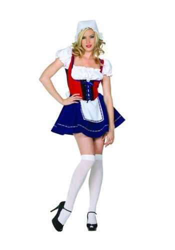 Swiss Costumes (RG Costumes Women's Swiss Miss, Red, White/Blue, Small/2-4)