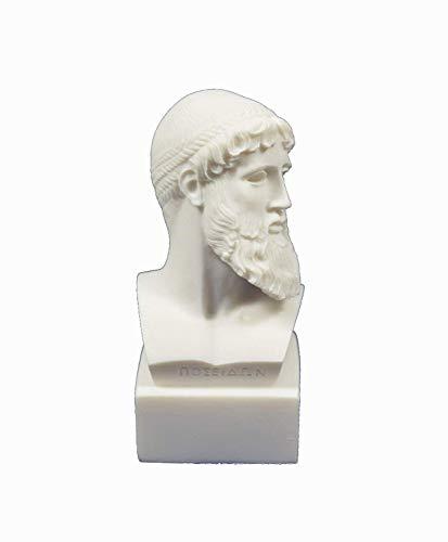Estia Creations Ancient Greek God Zeus Bust King of All Gods Statue Sculpture