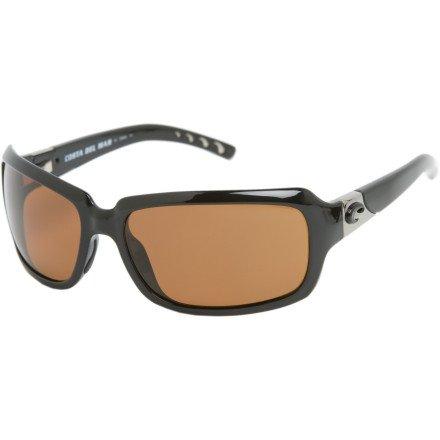 Costa Del Mar Sunglasses - Isabela- Plastic / Frame: Black Lens: Polarized Amber 580P Polycarbonate-IB11OAP