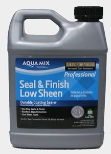 Aqua Mix Seal & Finish Low Sheen Durable Coating Sealer 32 oz