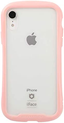 iFace Reflection Pastel iPhone XR ケース クリア 強化ガラス [ピンク]