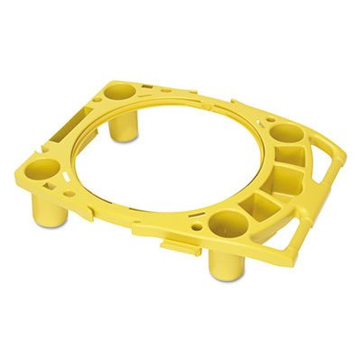 (Rubbermaid Commercial RCP 9W87 YEL Yellow Standard Rim Caddy, 4-Comp, Fits 32 1/2