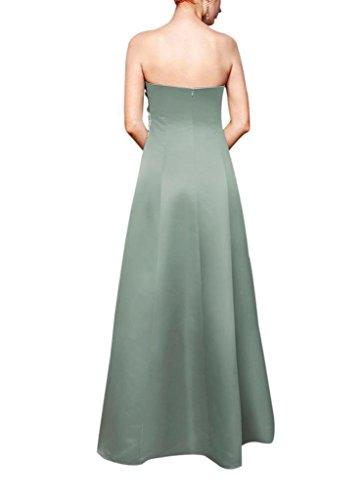 Brautjungfernkleid Einfache Abendkleid auf Taille BRIDE Applikationen traegerlose Perlen mit Hellblau Satin der GEORGE 5RaIXWqA