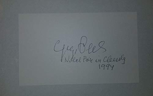 """Nobel Prize In Chemistry"" George Olah Hand Signed 3x5 Card JG Autographs COA from Unknown"