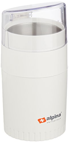 Alpina SF-2811 Electric Coffee/Spice/Nut Grinder for 220/240 Volt Countries (Not for USA), White by Alpina