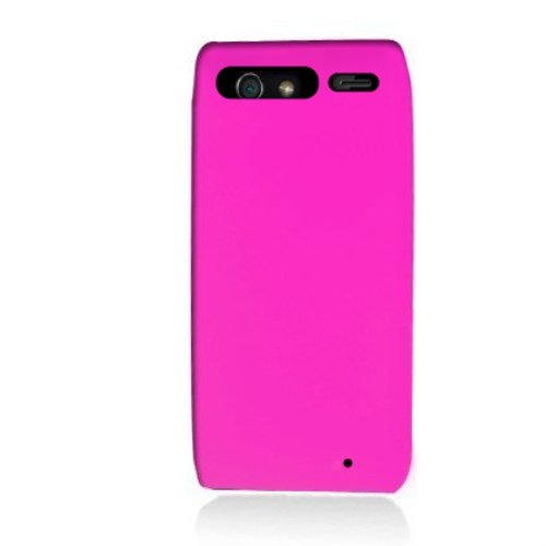 Aimo Wireless MOTXT912SK005 Soft n Snug Silicone Skin Case for Motorola Droid RAZR XT912 - Retail Packaging - Hot Pink