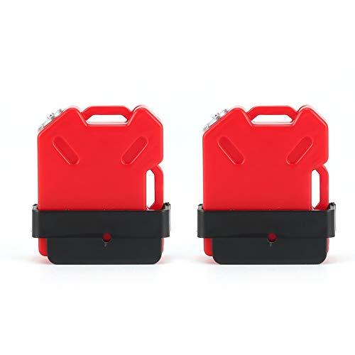 2pcs de Aceite del Tanque de Combustible de Gasolina de contenedores para 1/10 RC4WD TRX-4 orugas del Coche de RC