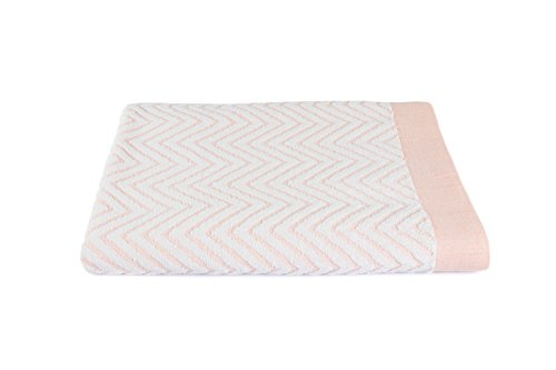 - Luxuriously Oversized Bleach Safe Beach Towel Chevron Design- Fibertone by 1888 Mills