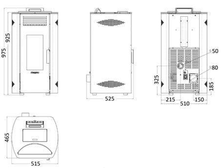 ESTUFA DE PELLET HERGOM MODELO ENZA 10 KW (BURDEOS): Amazon.es: Bricolaje y herramientas