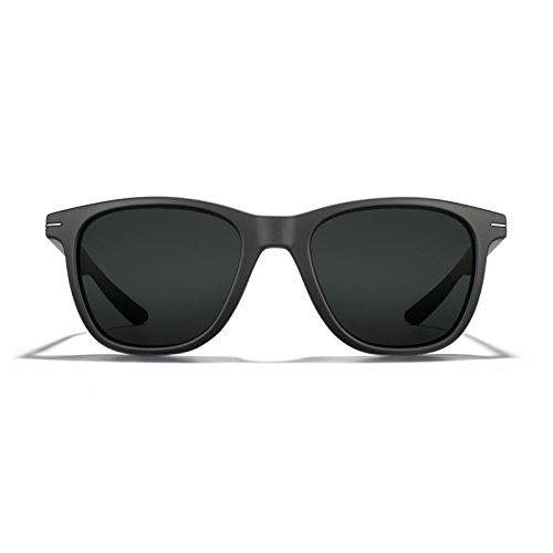 ROKA Halsey Performance Polarized Sunglasses Designed for Sport for Men and Women - Matte Black Frame - Dark Carbon (Polarized) Lens