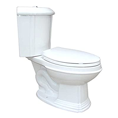 White Porcelain Elongated Space Saving Corner Toilet | Renovator's Supply
