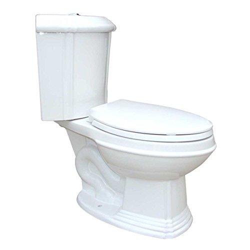 White Porcelain Elongated Space Saving Corner Toilet | Renovator's ()
