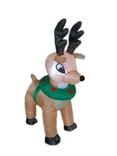 4 foot tall lighted christmas inflatable reindeer moose yard decoration